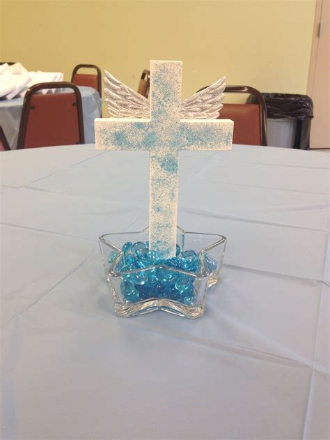 center piece baby boy baptism baptism pinterest