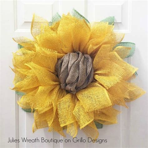 wreath diy diy sunflower wreath craft