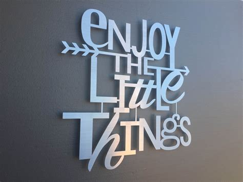 enjoy the things metal wall home decor wall