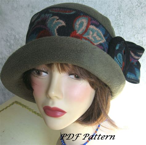 pattern for vintage hats vintage womens flapper hat pattern with upcycled trim easy to