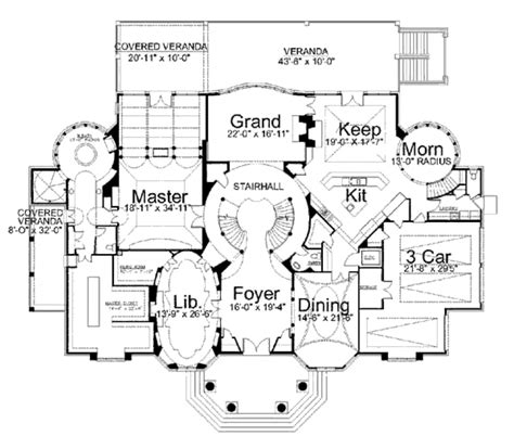 Classical House Plans by Classical Style House Plan 4 Beds 4 00 Baths 8100 Sq Ft