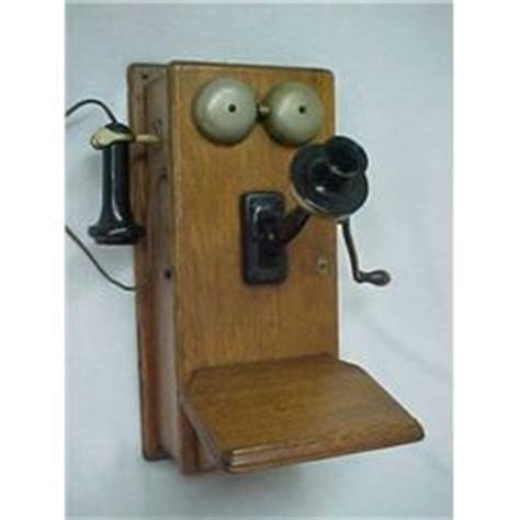 oak cased northern electric co wall mounted telephone