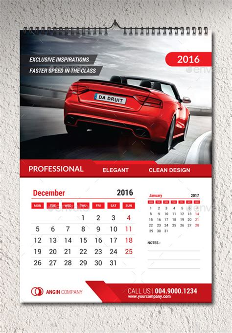 calendar templates for photoshop cs6 2016 wall calendar template by percetakan graphicriver