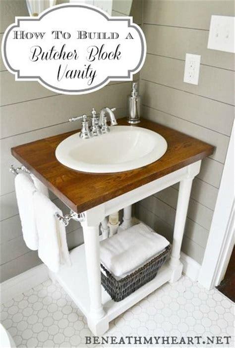 butcher block bathroom sink diy butcher block vanity for the vanities and diy and