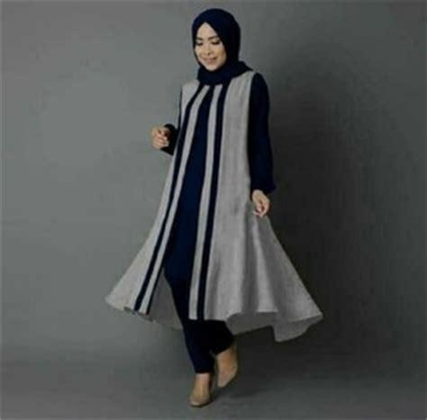 Setelan Baju Muslim Celana Modern Setelan Baju Muslim Tunik Celana Modis Modern Model