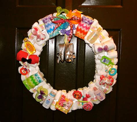 wreath baby shower the after my original wreath 2nd edition