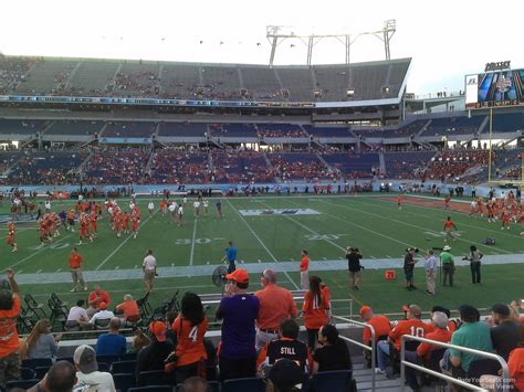 Bowl Section by Florida Citrus Bowl Stadium Section 107 Rateyourseats