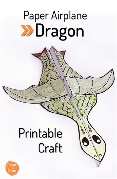 printable paper airplane crafts printable flying dragon craft simple crafts free