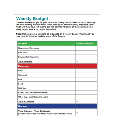 fortnightly budget template fortnightly budget template 28 images 7 bi weekly
