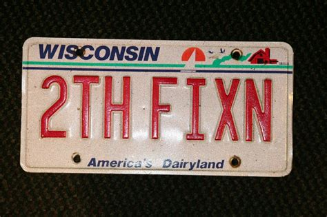 Wisconsin Vanity Plates by Wisconsin Dental License Plate License Plates