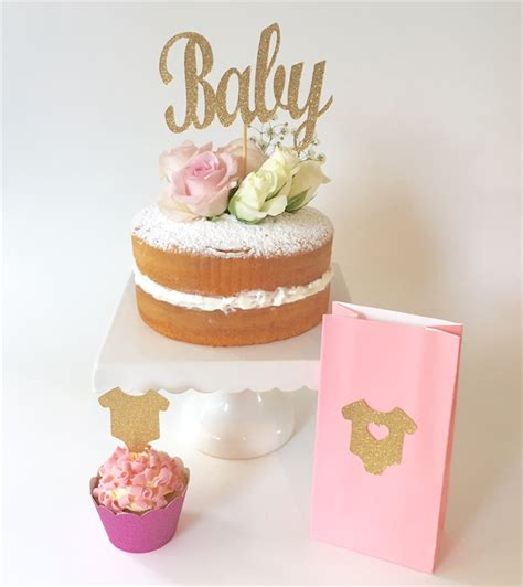 Baby Shower Cake Toppers For Sale by Gold Glitter Baby Cake Topper Baby Shower Cake Topper