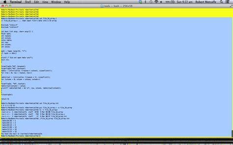 xcode tutorial array c 2d array via file tutorial robert james metcalfe blog