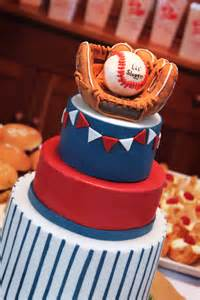 Baseball Baby Shower Cake Ideas by A Baseball Baby Shower Cake A Baker In