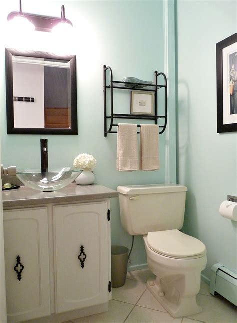 turquoise bathroom paint budget friendly half bath makeover with aqua walls dans