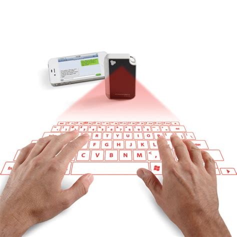 Projector Keyboard keychain laser projection keyboard the green