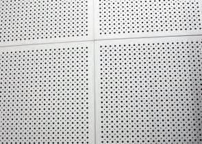 fireproof colored perforated aluminum ceiling panels