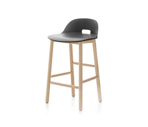 Back Bar Stools by Alfi Counter Stool Low Back Bar Stools From Emeco