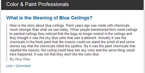On The Ceiling Meaning by What Is The Meaning Of Blue Ceilings