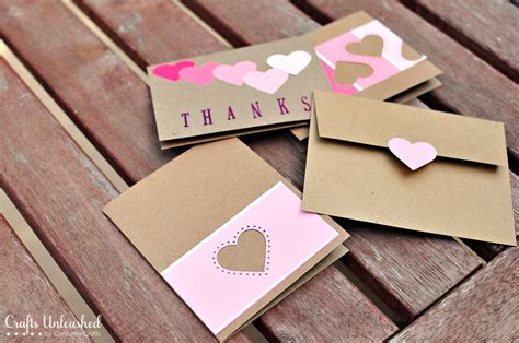 Handmade Craft Cards - paint chip handmade thank you cards