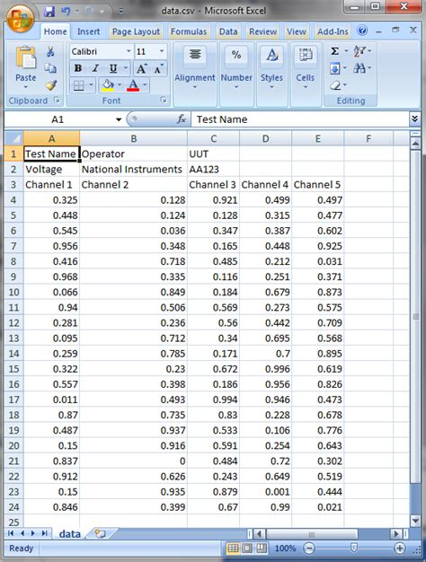 csv format spreadsheet getting started write continuous data to spreadsheet csv