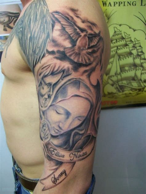 half sleeve tattoo with cross religious tattoos designs ideas and meaning tattoos for you