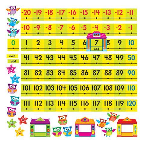 printable number line bulletin board trend owl stars bulletin board set number line 20 to 120