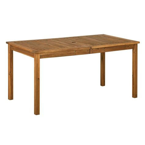 home depot outdoor dining table brown rectangle acacia wood simple outdoor dining table