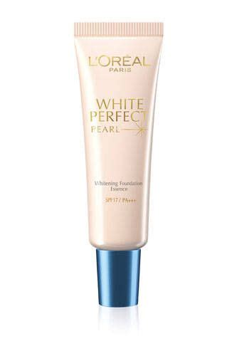 Loreal White Pearl Foundation l oreal white pearl whitening foundation essence