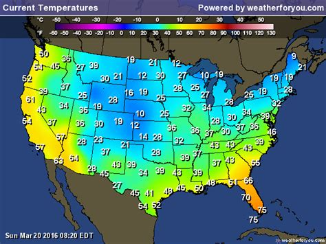 us weather map current temperatures current temperature map my