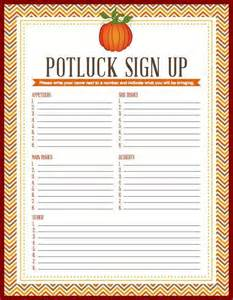 potluck printable sign up sheet thanksgiving church signs