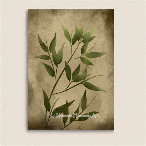 Japanese Wall Decor by Green Leaves Bamboo Japanese Wall Decor 5 X 7 Print