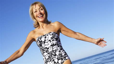 beachwear for women over 60 swimsuits for 60 year olds short hairstyle 2013