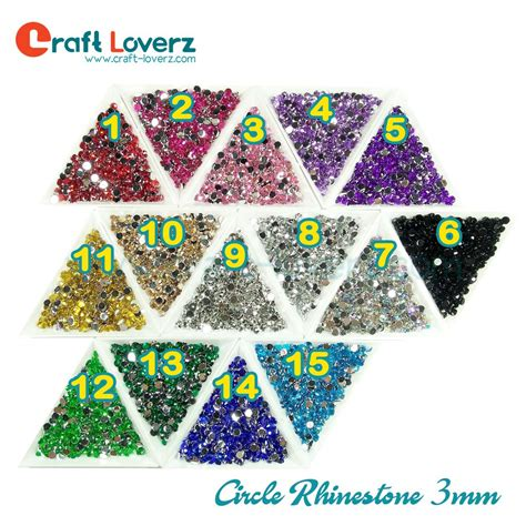 Circle Rhinestone 4mm circle rhinestone 3mm gemstone bahan henna bahan hias