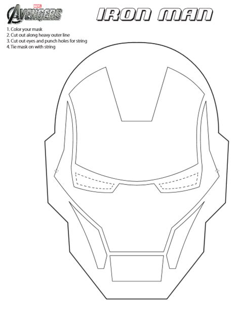 printable hulk mask template jinxy kids printable iron man mask to color