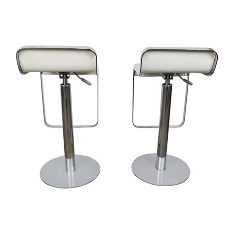 white modern stools white leather barstools 35 stylish modern adjustable white