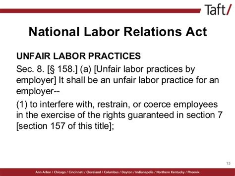 national labor relations act section 8 mind the gap new laws affecting hr professionals