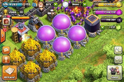 Kaos Clash Of Clans Elixir trik clash of clans cara kilat mengumpulkan loot