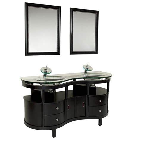 63 bathroom vanity fresca unico 63 in vanity in espresso with glass vanity