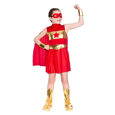 superhero halloween costumes for girls girls super hero red fancy dress halloween costume