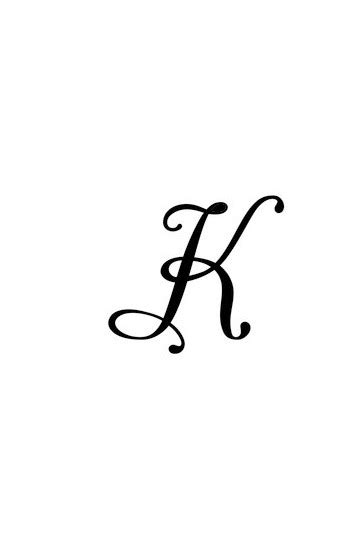 Pochoir lettre k - TATTOO DIFFUSION