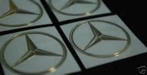 Mercedes Decals Mercedes Metal Decal Golden Emblem Sticker