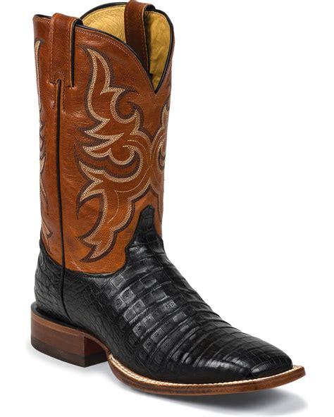 justin s aqha remuda caiman cowboy boot square toe 9616