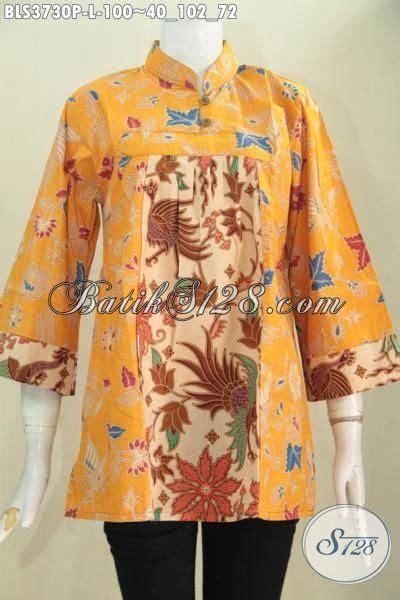 Baju Batik Pastel Kuning produk blus batik paling keren saat ini baju batik warna kuning kombinasi busana batik