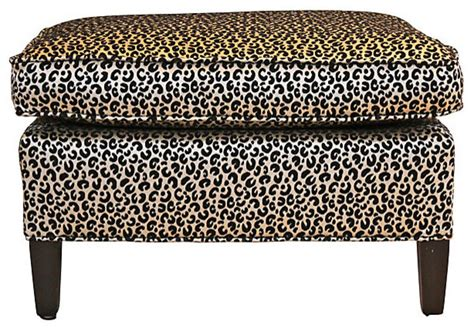 cheetah ottoman cheetah ottoman contemporary footstools and ottomans