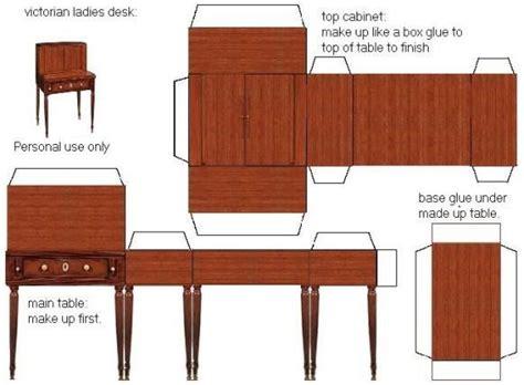 printable paper furniture 40 best dollhouse table desk images on pinterest doll