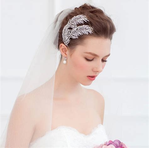 Wedding Hair With Bling by Bling Feather Bridal Hair Comb Rhinestone Wedding