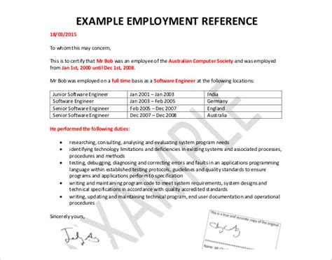 free job recommendation letter sample image collections letter