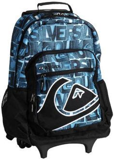 Quiksilver Dimension Black rolling backpack on wheeled backpacks