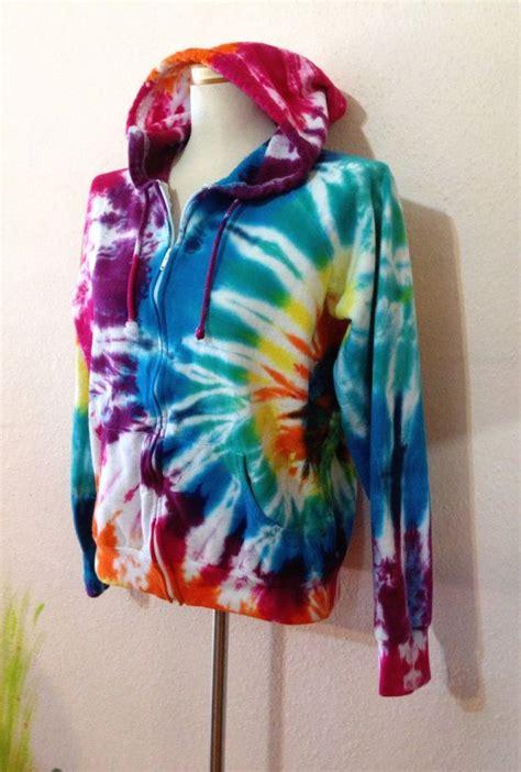 rainbow tie dye hoodie hippie hoodie fleece hoodie