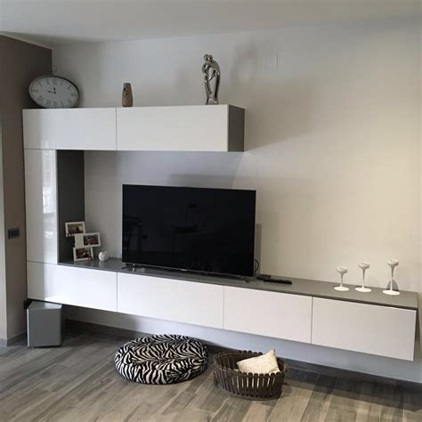 cucina e living cucina e living minimal moderno bianco e antracite basile